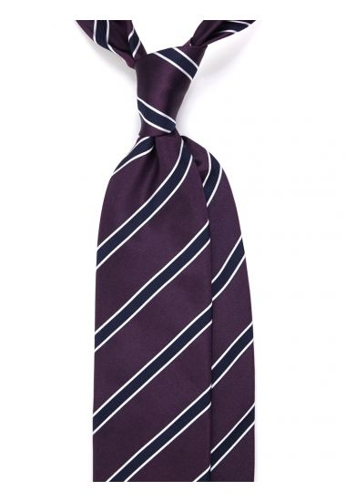 Woven Silk 3-fold necktie NAITO - Purple
