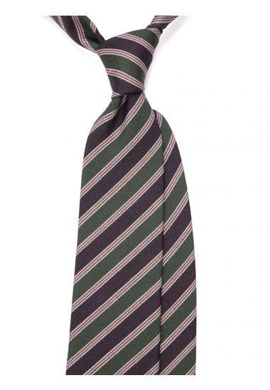 Wool 3-fold necktie NATIO - Green