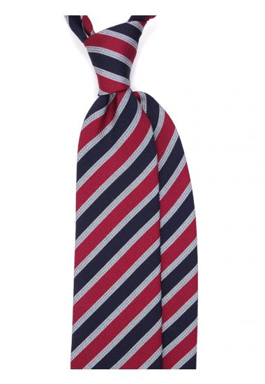 Wool 3-fold necktie NATIO - Red