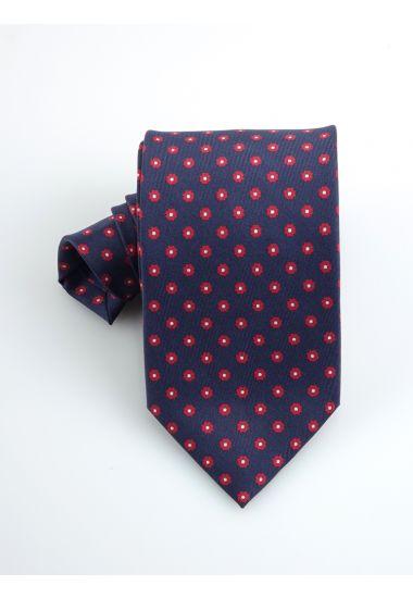 Cravatta 3 pieghe LUANDA in seta twill _Blu