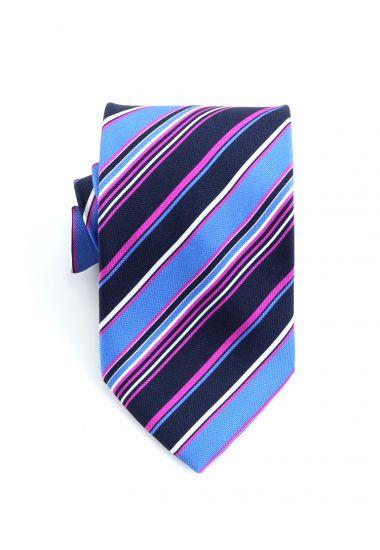 Cravatta 3 pieghe PARAMARIBO in seta panama _Blu Scuro