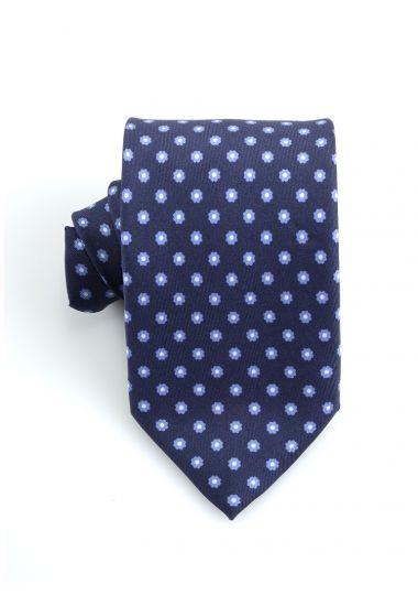 Cravatta 3 pieghe LUANDA in seta twill -Blu Scuro