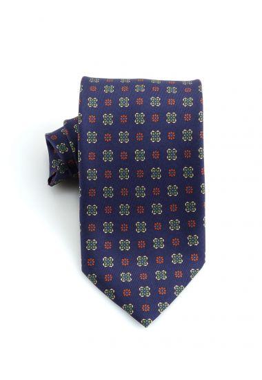 Cravatta 3 pieghe ATHENE in seta twill _Blu Scuro