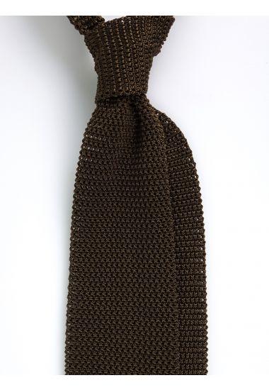 Cravatta a maglia AMALFI_Verde Oliva