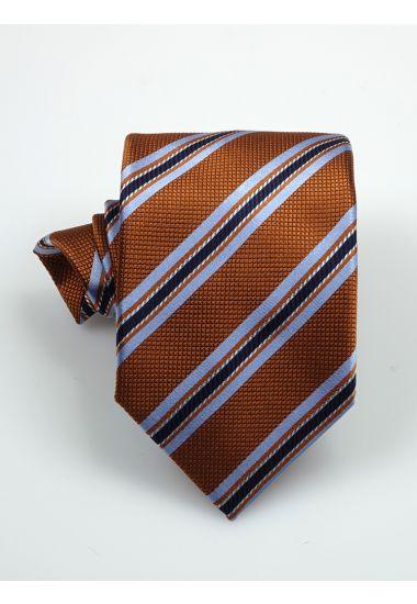 Cravatta 3 pieghe CHARLOTTE in seta-Arancione