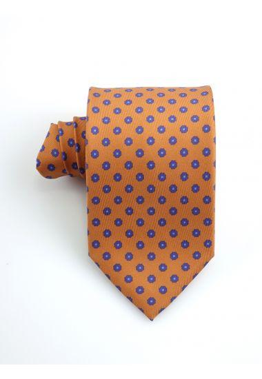 Cravatta 3 pieghe VERA in seta twill _Arancione