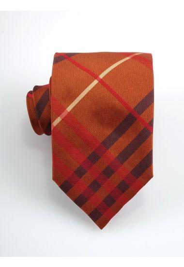 Cravatta 3 pieghe TENZIO in seta_Arancione