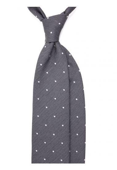 Woven Silk 3-fold necktie Polly - Grey