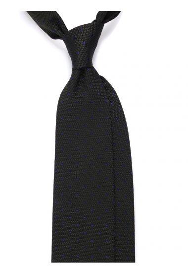 Cravatta 3 pieghe POINTO in seta tessuta - Verde