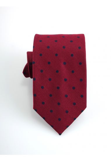Woven Silk 3-fold tie DOLINO_Red