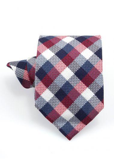 Cravatta 3 pieghe LH702 in seta-Rosso