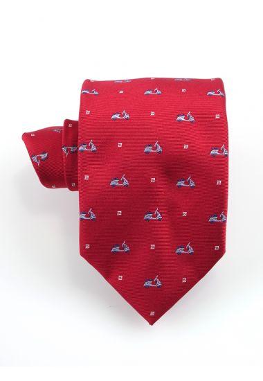 Cravatta 3 pieghe VESPA  in seta-Rosso