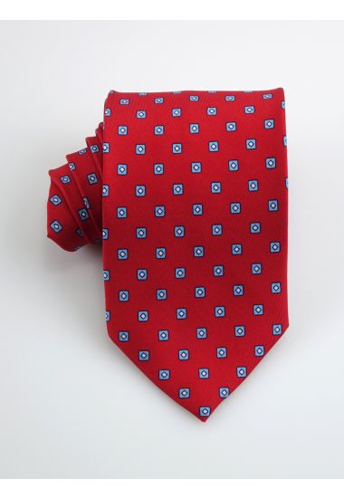 Twill Silk 3-fold tie CICLOPE_Red