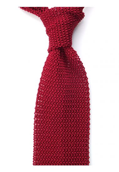 Cravatta a maglia MACCA-Rosso