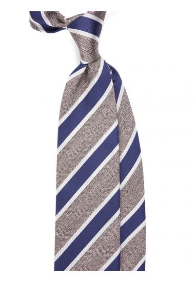 Woven Silk 3-fold tie RINIA_Blue