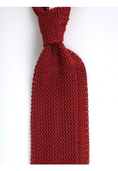Cravatta a maglia AMALFI_Ruggine