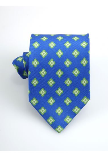Cravatta 3 pieghe Clark in seta twill -Blu Avion
