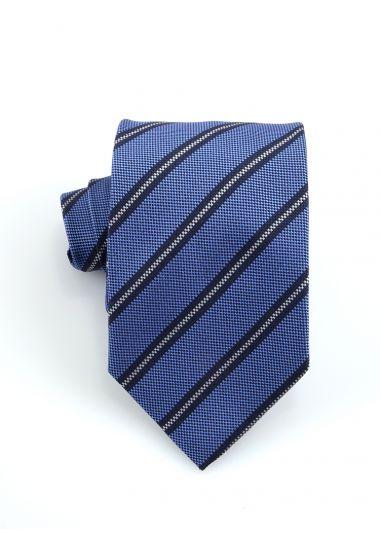 Cravatta 3 pieghe GAMMA in seta_Celeste