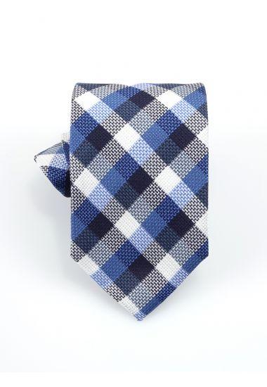 Cravatta 3 pieghe LH699 in seta-Blu elettrico