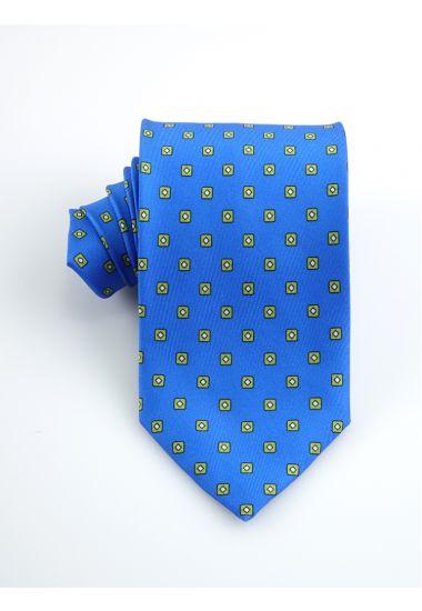 Cravatta 3 pieghe CICLOPE in seta twill _Blu Royal