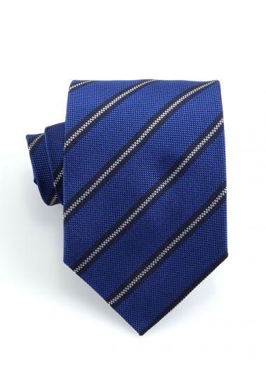 Cravatta 3 pieghe GAMMA in seta-Blu Royal
