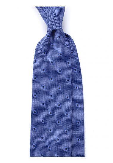 Cravatta 3 pieghe TIRELLA - Garza di seta -Blu elettrico