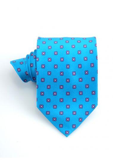 Cravatta 3 pieghe CICLOPE in seta twill _Turchese