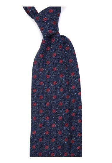 Woven Silk 3-fold tie YUKO-Grey