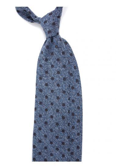 Cravatta 3 pieghe in seta tessuta YUKO