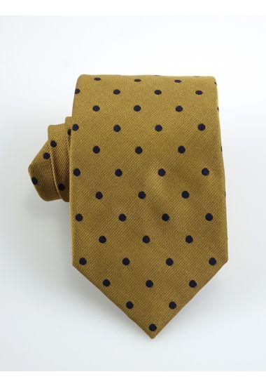 Cravatta 3 pieghe DOLINO in seta-Giallo Scuro