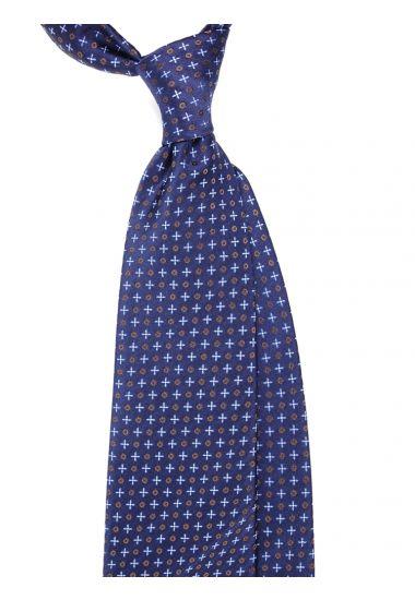 Woven Silk3-fold tie  ZERO_Blue