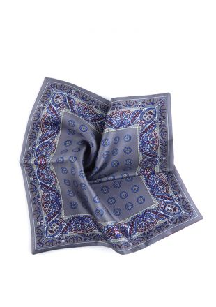 Printed silk double face pocket square SALVAD