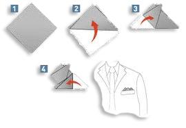 Come piegare la pochette da uomo | piega a tre punte
