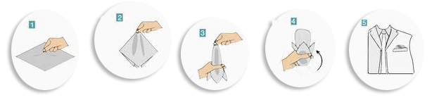 Come fare la piega al fazzoletto da taschino - Piega a sbuffo o casual