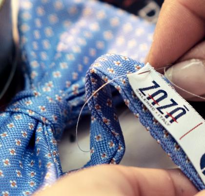 Sartorial handmade celestial bow tie